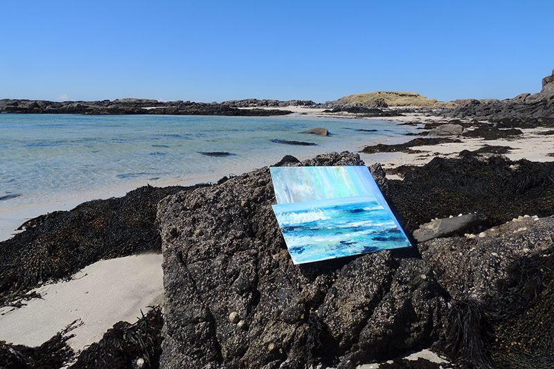 Painting at Ardnamurchan